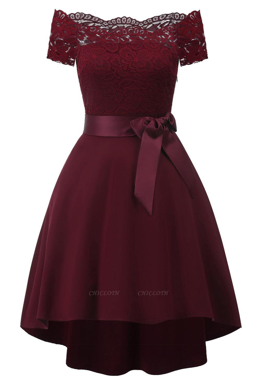 A| Chicloth Cocktail Dresses Simple A-Line lace Elegant Summer Lace Dress