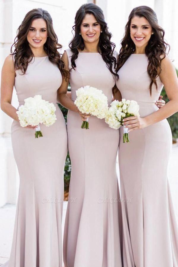 Chicloth Halter Neck Stretchy Long?Bridesmaid Dresses