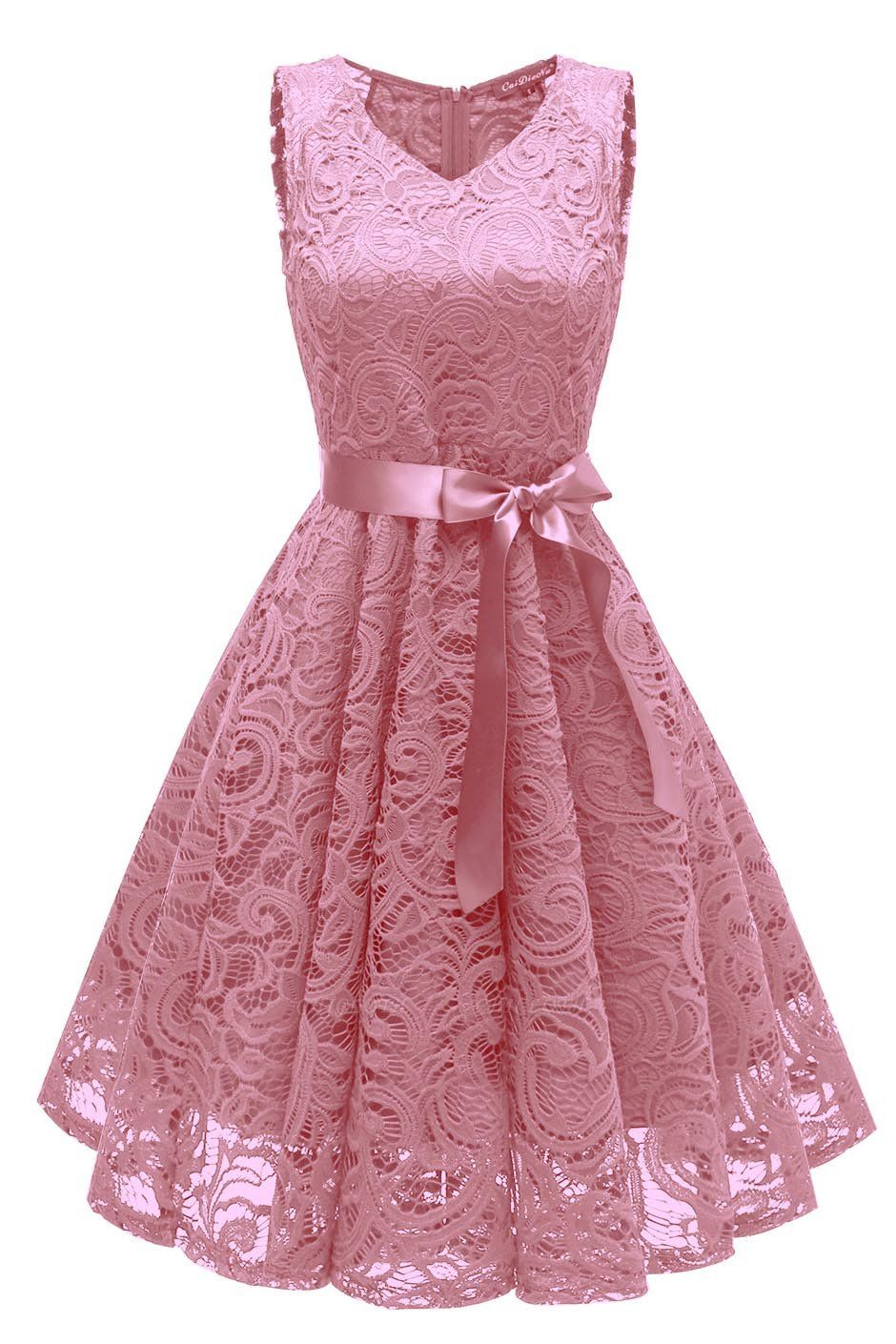 A  Chicloth Women's 1940s Vintage Rockabilly Ball Gown Flared Dress