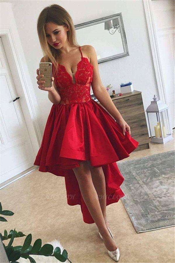 Red Homecoming Dresses Hi Lo Hoco Dress