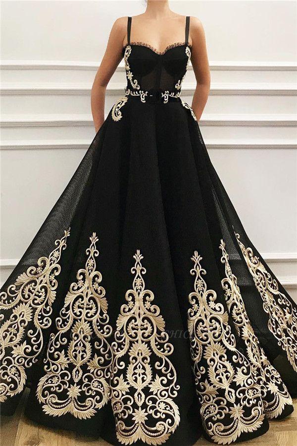 ZY047 Elegant Evening Dresses Long Black Prom Dresses With Lace