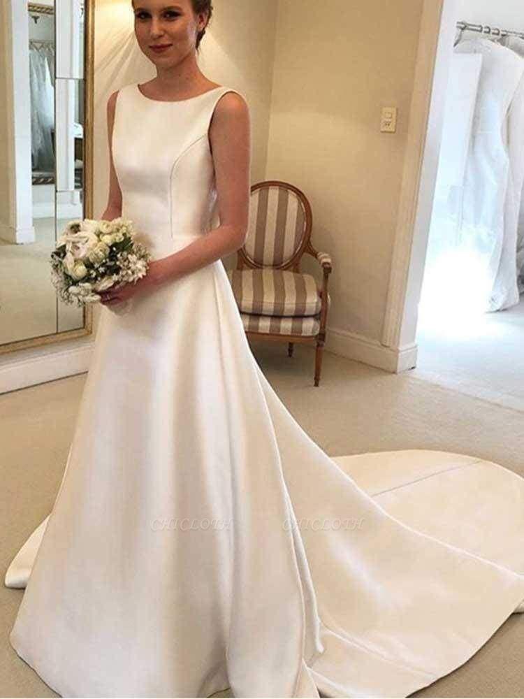 Chicloth Gorgeous Backless Ruffles Wedding Dresses
