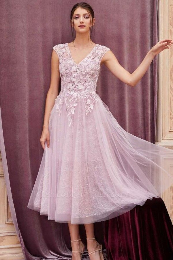 ZY380 Elegant Evening Dresses Pink Short Lace Cocktail Dresses