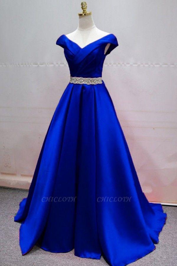 ZY408 Evening Dresses Long Blue Evening Wear Women