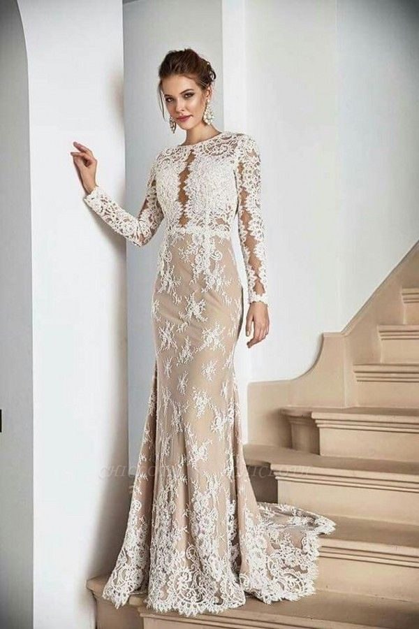 ZY397 Designer Evening Dresses With Lace Evening Wear Long Sleeves