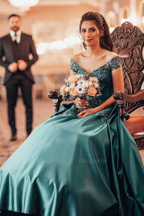 ZY382 Elegant Evening Dresses Green Prom Dresses Long Cheap