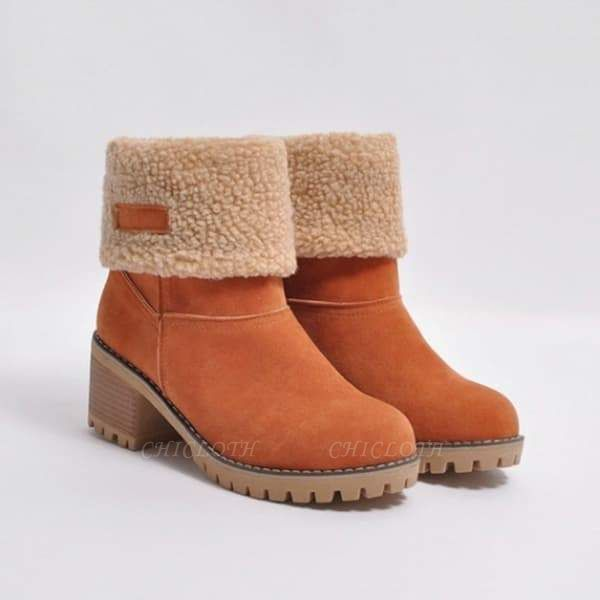 FFT480 Women Winter Fur Warm Snow Boots