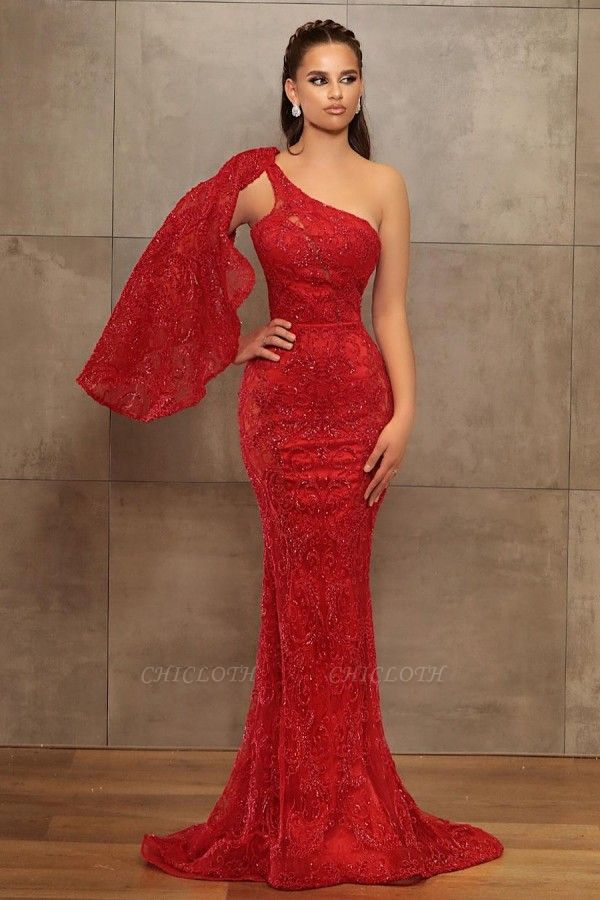 ZY461 Prom Dress Long Red Evening Dress With Glitter