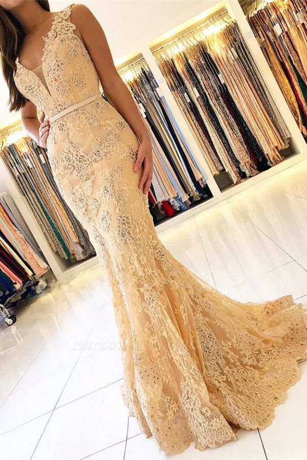 ZY460 Elegant Evening Dresses With Lace Prom Dresses Long Cheap