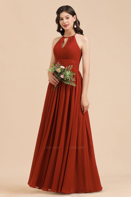 BM2004 Halter A-line Chiffon Bridesmaid Dress