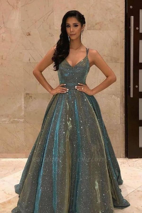 ZY622 Long Glitter Prom Dresses Evening Dresses Cheap