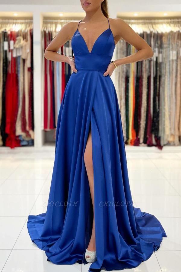 ZY623 King Blue Evening Dresses Long Prom Dresses Cheap
