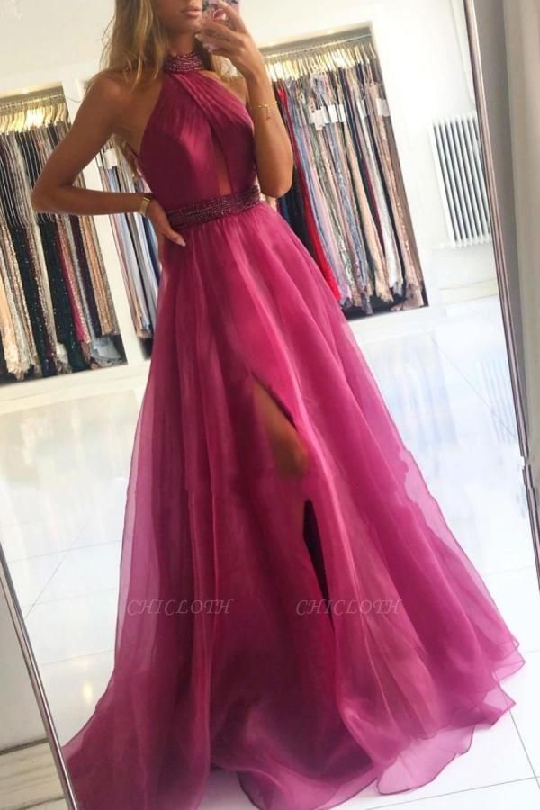 ZY639 Fuchsia Evening Dresses Long Cheap Prom Dresses Cheap Online