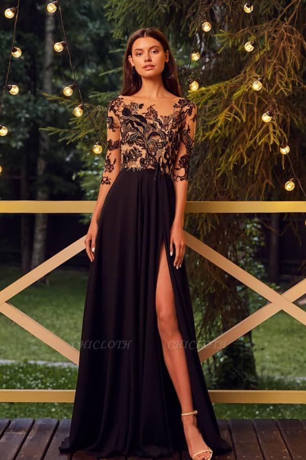 ZY624 Designer Ball Gowns Black Evening Dresses Long Cheap