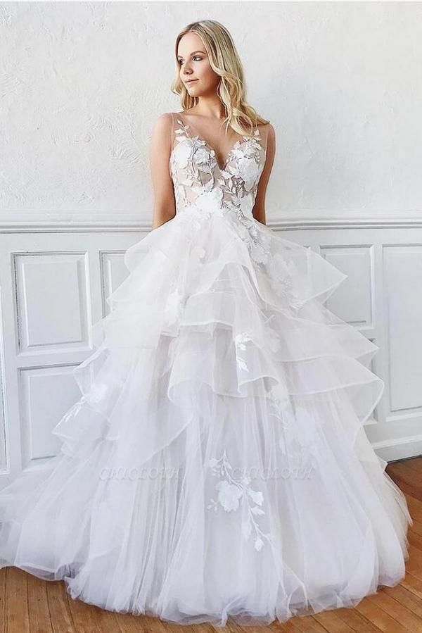 Cheap A Line Lace Wedding Dresses Bridal Gowns