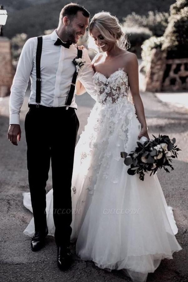 Cheap Boho Wedding Dresses A Line   Lace Wedding Gowns Online
