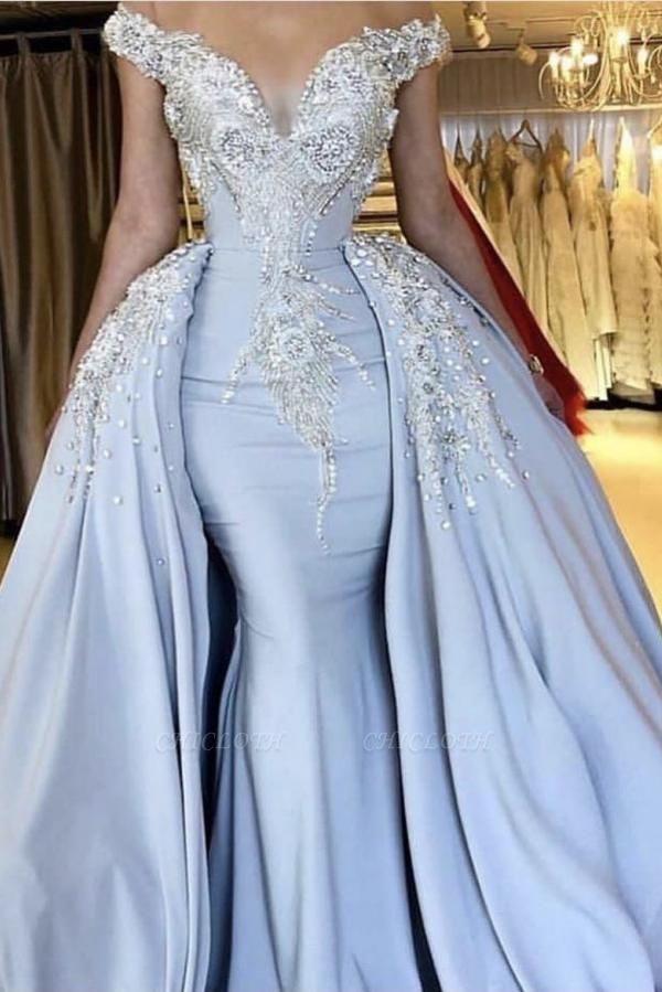 Lavender Sparkly Long Prom Dresses | Cheap Evening Gowns