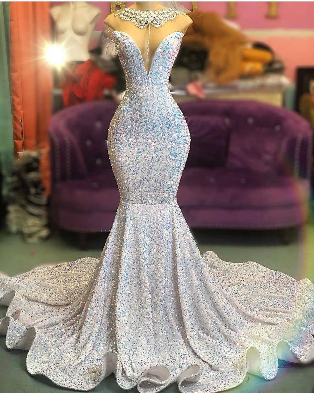 ZY001 Luxury Evening Dresses Long Glitter Prom Dresses Abenmoden