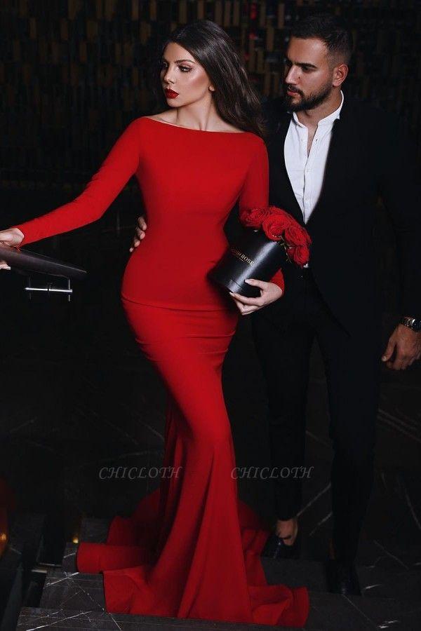 ZY012 Red Evening Dress Long Elegant Evening Dresses Cheap