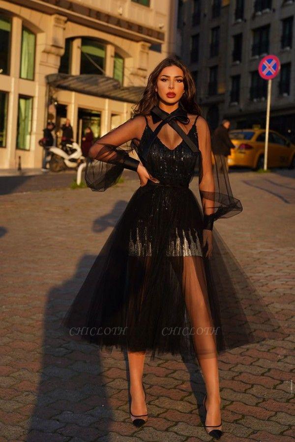 ZY043 Black Prom Dresses With Glitter Cocktail Dresses Short Online