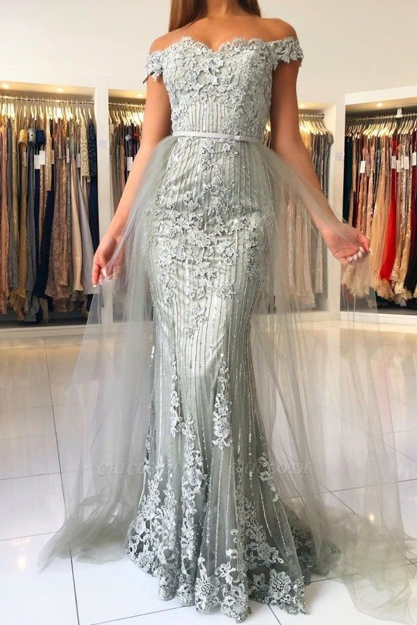 ZY016 Evening Dresses Long Lace Glitter Evening Dress Large Large