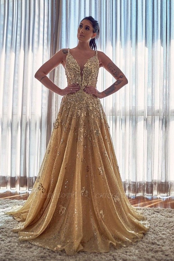 ZY055 Evening Dresses Long Glitter Cheap Prom Dresses With Lace