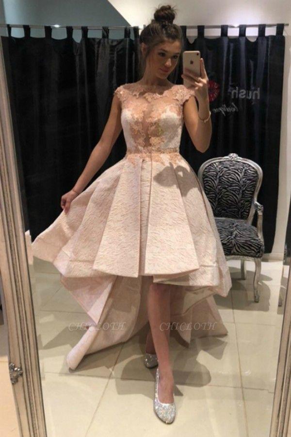 ZY136 Lace Prom Dresses Cocktail Dresses Short Front Long Back