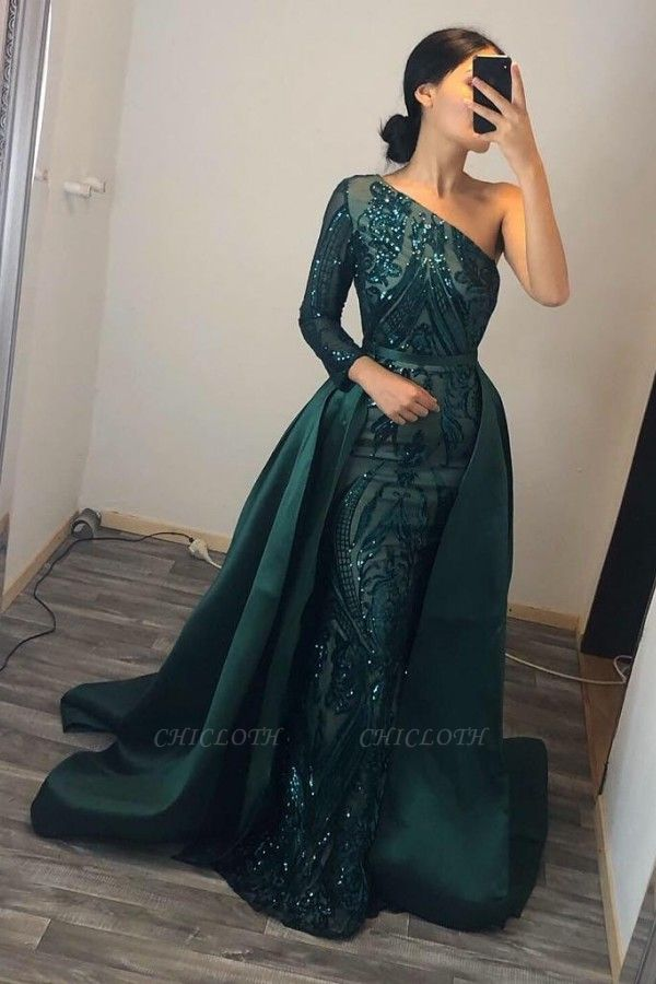 ZY104 Elegant Evening Dresses Long Green | Prom Dresses With Glitter