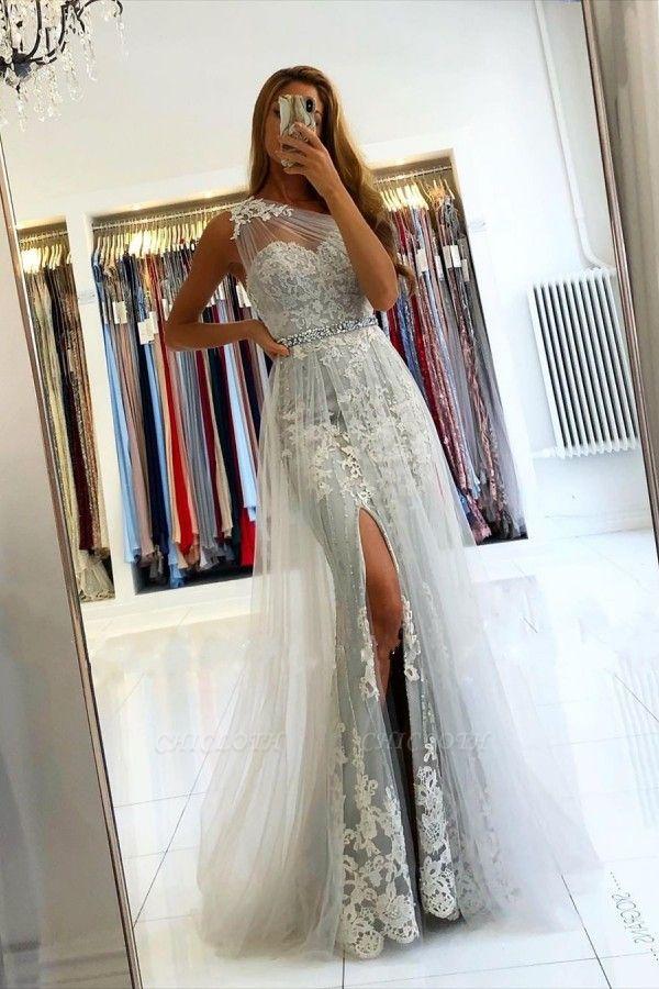 ZY131 Elegant Evening Dresses Long Lace Prom Dresses Glitter