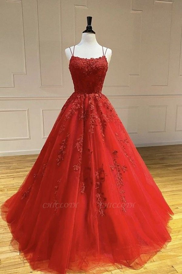 ZY107 Beautiful Evening Dresses Long Red | Evening Wear With Lace Online