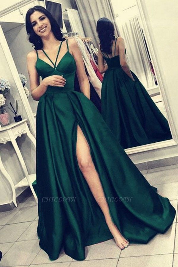 ZY221 Green Evening Dress Long Cheap Evening Wear