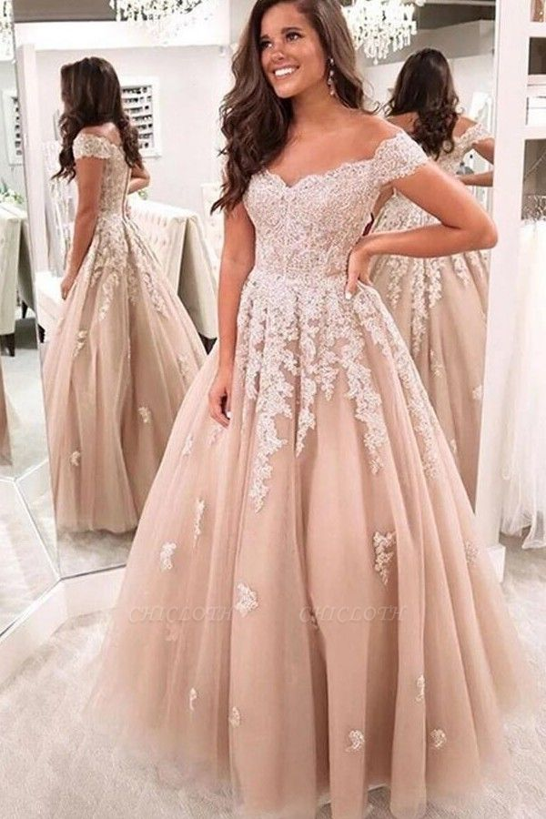 ZY224 Elegant Evening Dresses With Lace Prom Dresses Evening Wear