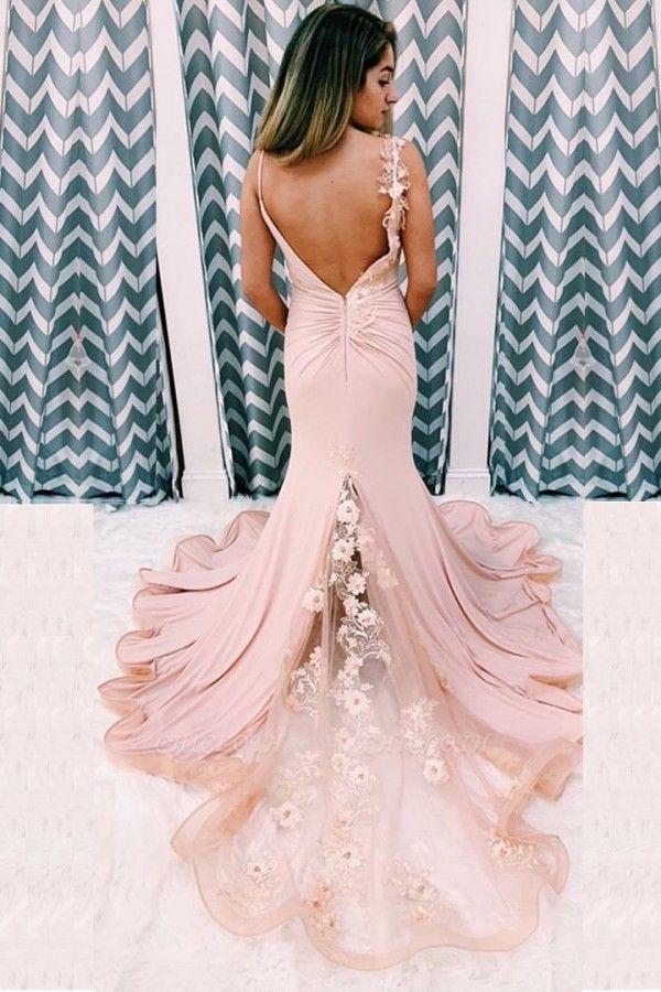 ZY172 Beautiful Evening Dress Long Pink Evening Wear Backless