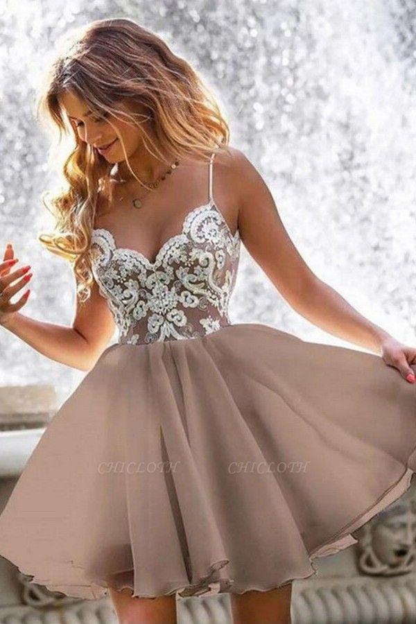 ZY209 Designer Cocktail Dresses Short Simple Evening Dresses With Lace