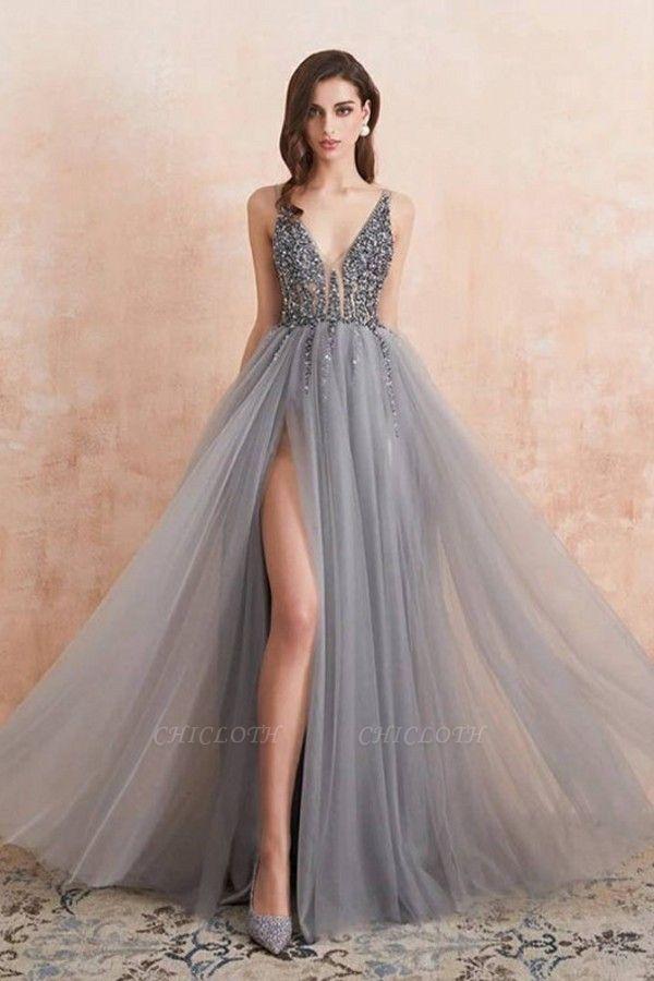 ZY190 Evening Dresses Long V Neckline Evening Wear Cheap Online