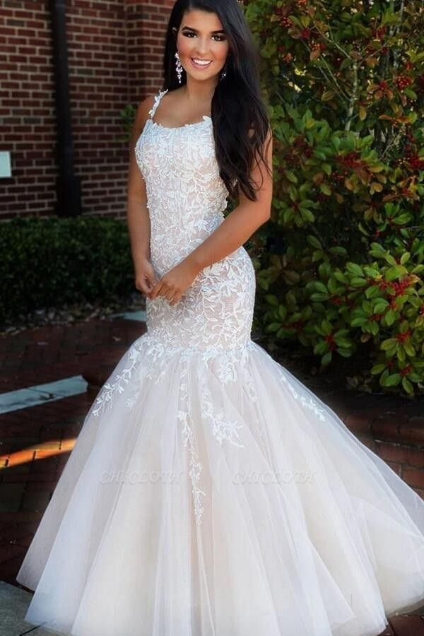 ZY225 Elegant Evening Dress Long White Prom Dresses With Lace