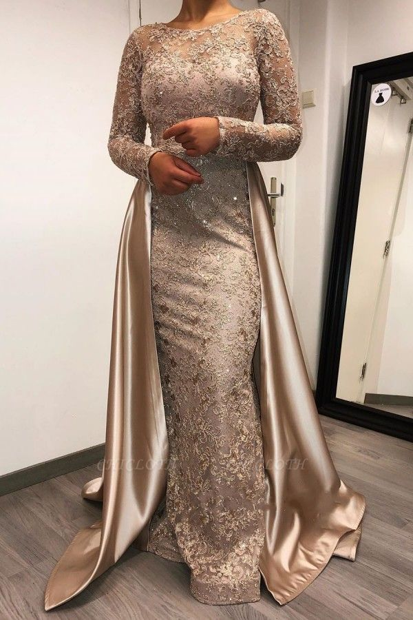 ZY264 Designer Evening Dresses Long With Sleeves Lace Mother Of The Bride Dresses Cheap
