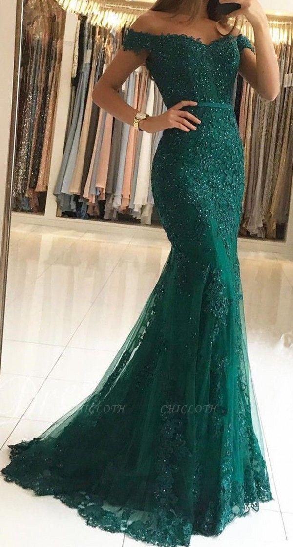ZY239 Evening Dress Green Long Cheap Evening Dresses Maternity Wear
