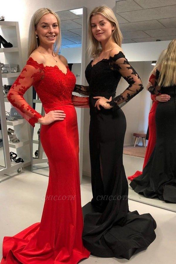 ZY349 Babyonlinedress.De/En/G/Designer Evening Dresses Long Black Red Evening Dress Online