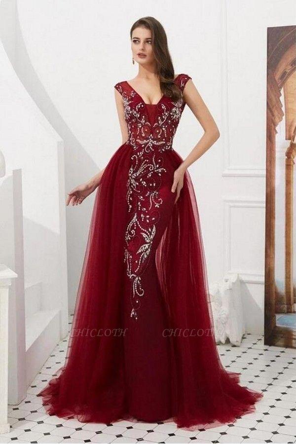 ZY347 Wine Red Evening Dresses Long Cheap Buy Evening Wear Online