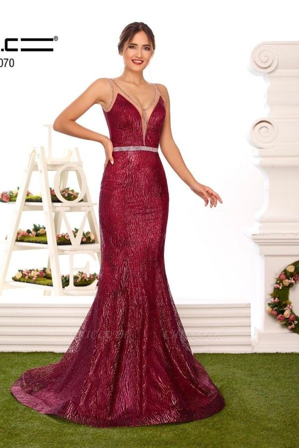 ZY356 Designer Evening Dresses Long Glitter Buy Red Prom Dresses