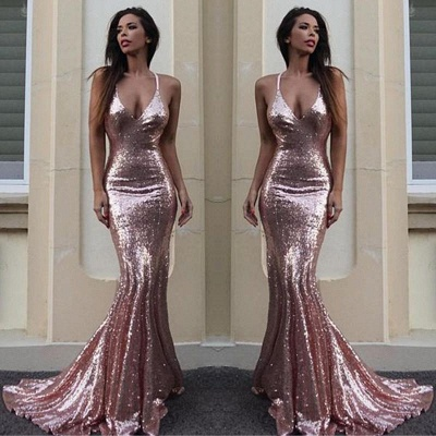 Chicloth Gorgeous Sequins V-Neck Mermaid Sequins Prom Dress_2