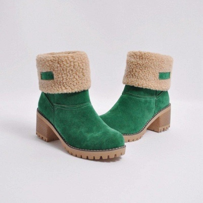 A  Chicloth Women's Winter Short Boots Round Toe Snow Boots_7
