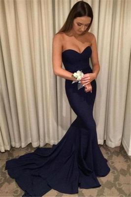 Chicloth Elegant Sweetheart Mermaid Zipper Sweep-Train Prom Dress_1