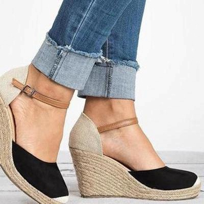 B| Chicloth Womens Wedge Sandals Ankle Boots_3