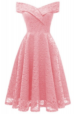 A| Chicloth Cute Lace Dress Wedding Party Formal Dress_10