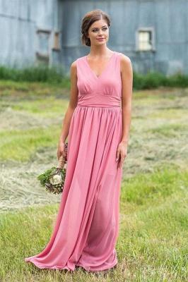 Chicloth V Neck Chiffon Bohemia Long Bridesmaid Dresses_5