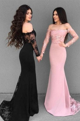 Elegant Off-the-Shoulder 2019 Evening Dress | Mermaid Lace Formal Dress_1