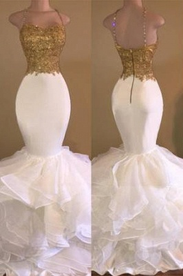 A  Chicloth THALIA   Mermaid Spaghetti Sweetheart Long Tulle Prom Dresses with Crystals_1