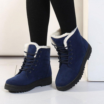 Daily Lace-up Round Toe Boots_1
